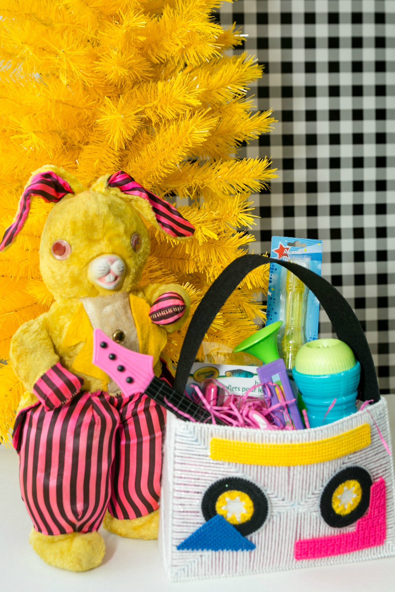 Easter baskets with a musical theme.