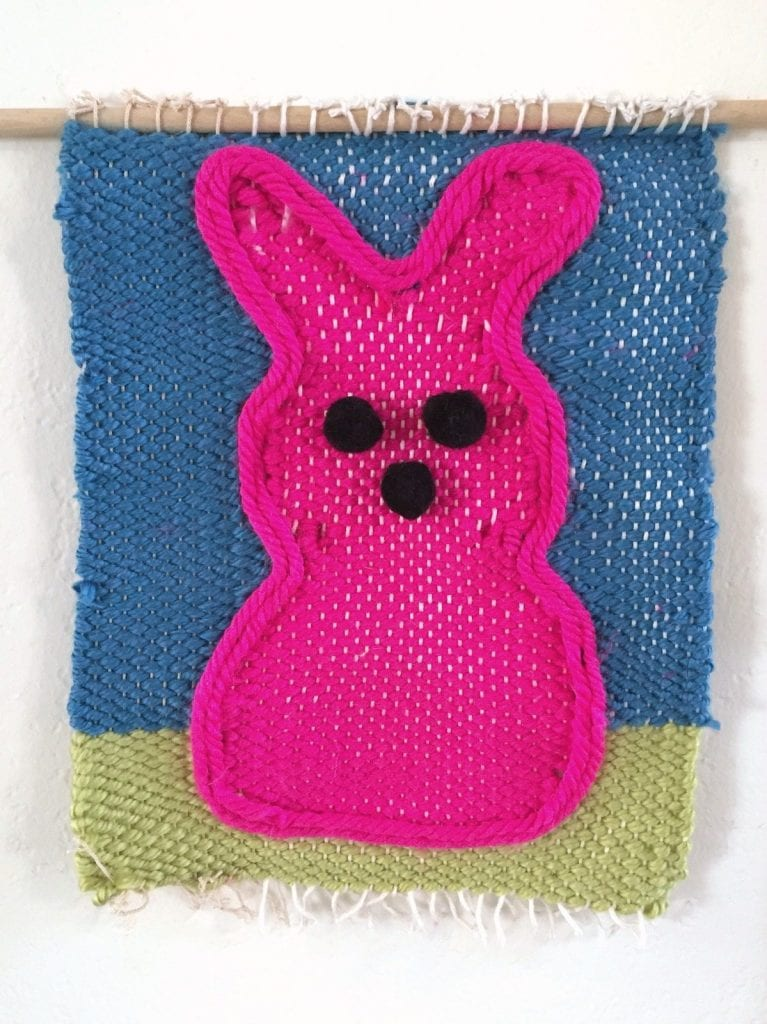 How to make a Peeps inspired wall weaving.
