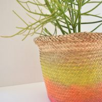 How to make an ombre basket.
