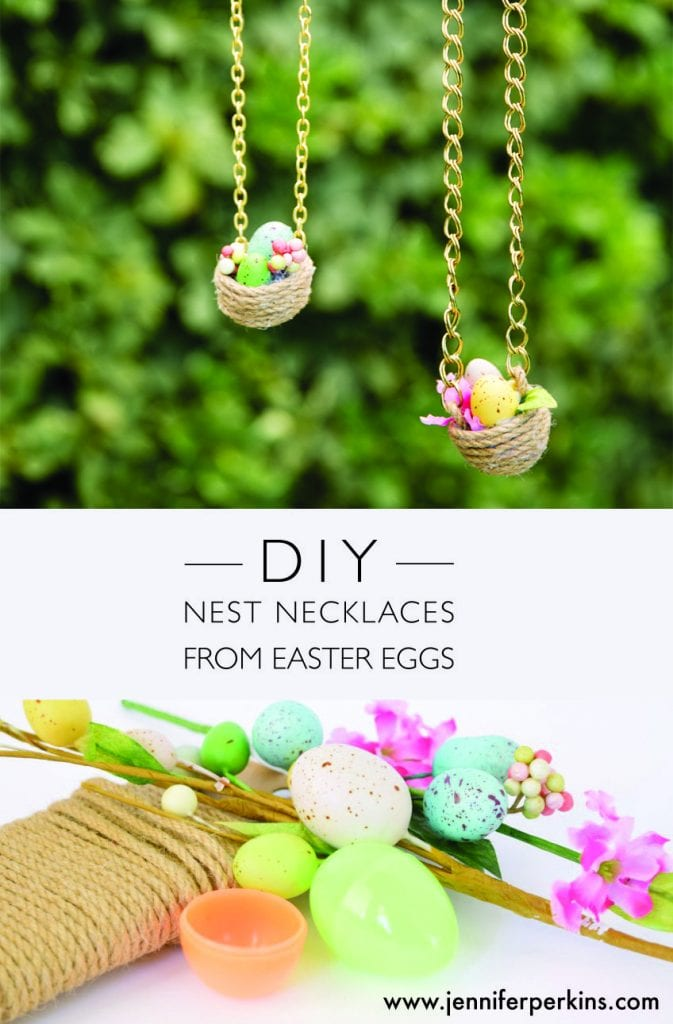 DIY Nest Necklaces from Easter Eggs.