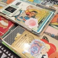 Collage paper packs on Etsy.
