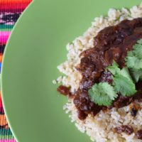Delicious recipe for peanut free chicken mole.