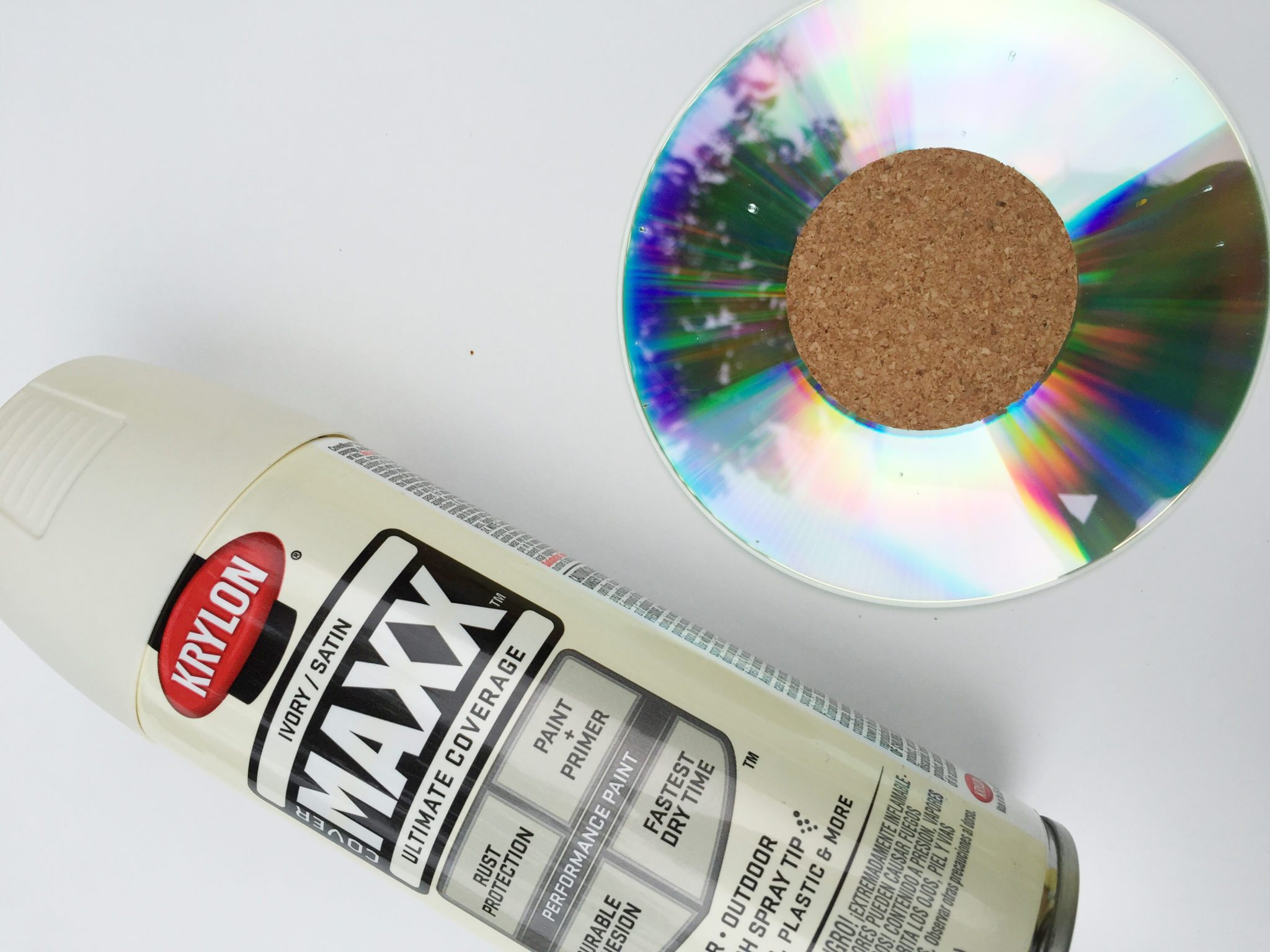How to spray paint a compact disc.