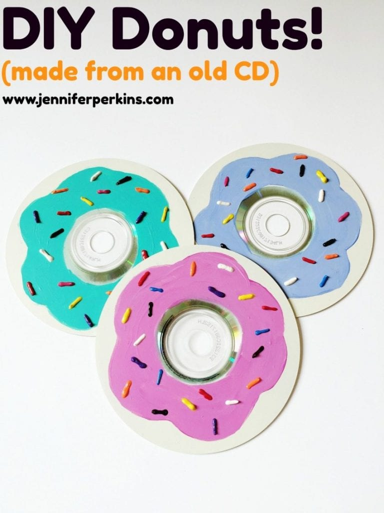 Easy DIY Donuts Made from a CD by Jennifer Perkins