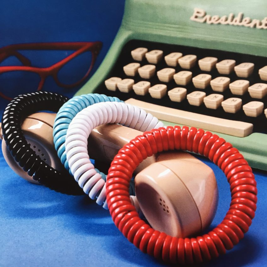 How to make a bracelet from telephone cord.
