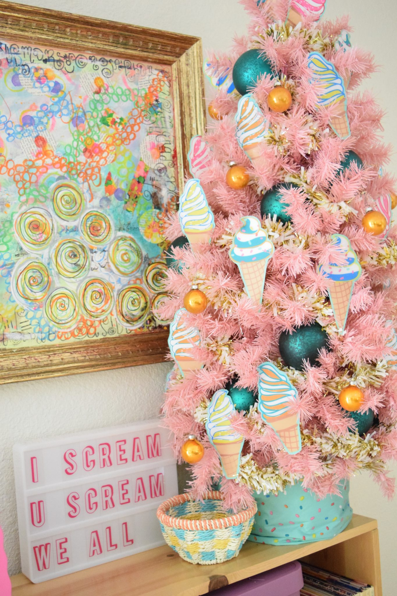 How to decorate an ice cream tree.