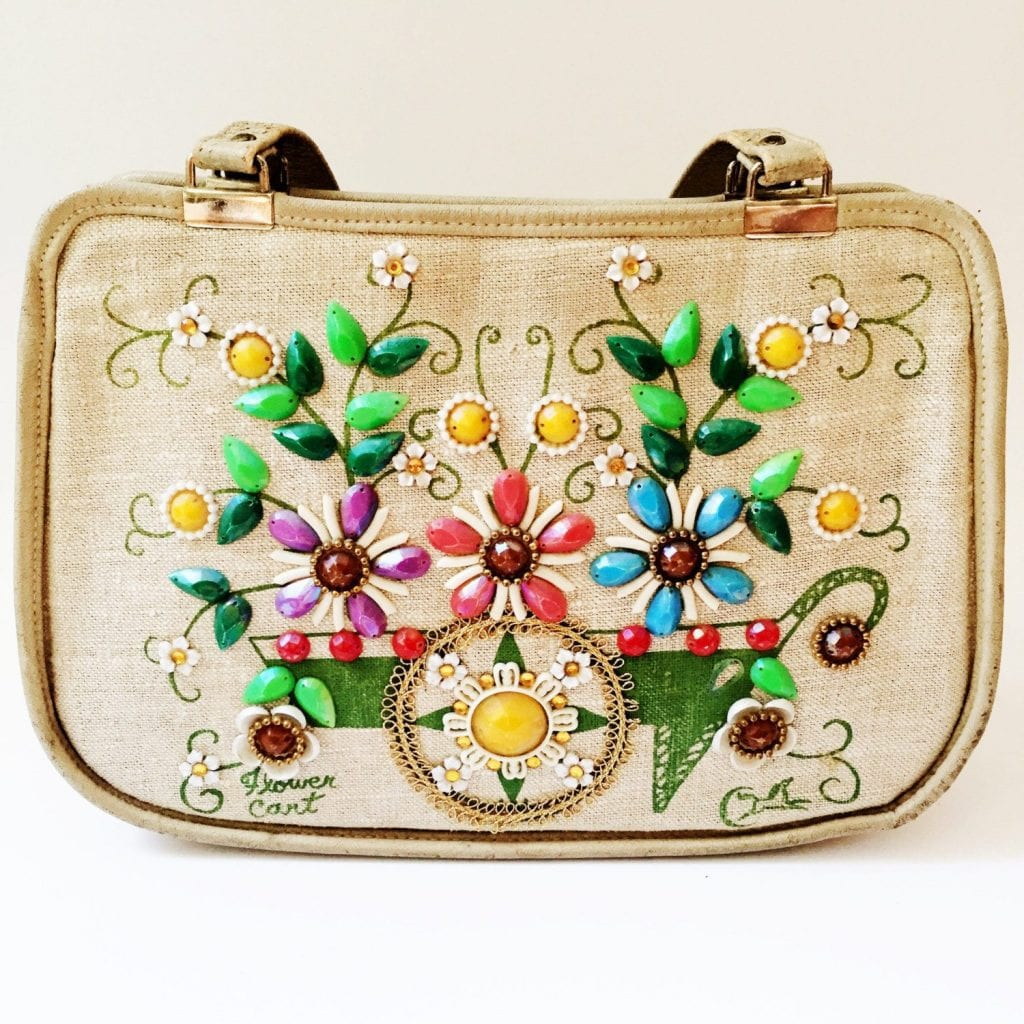 Flower Cart purse by Texas designer Enid Collins