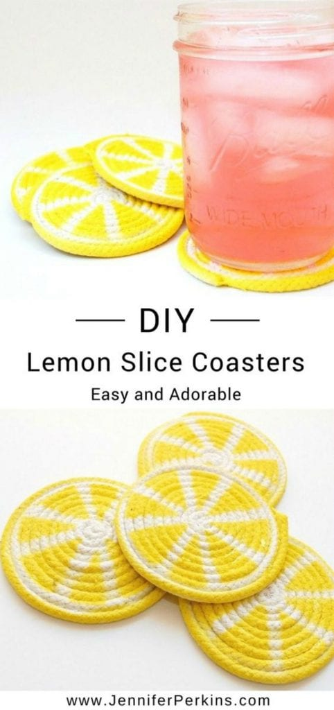 DIY Lemon Slice Coasters (Easy and Adorable) by Jennifer Perkins