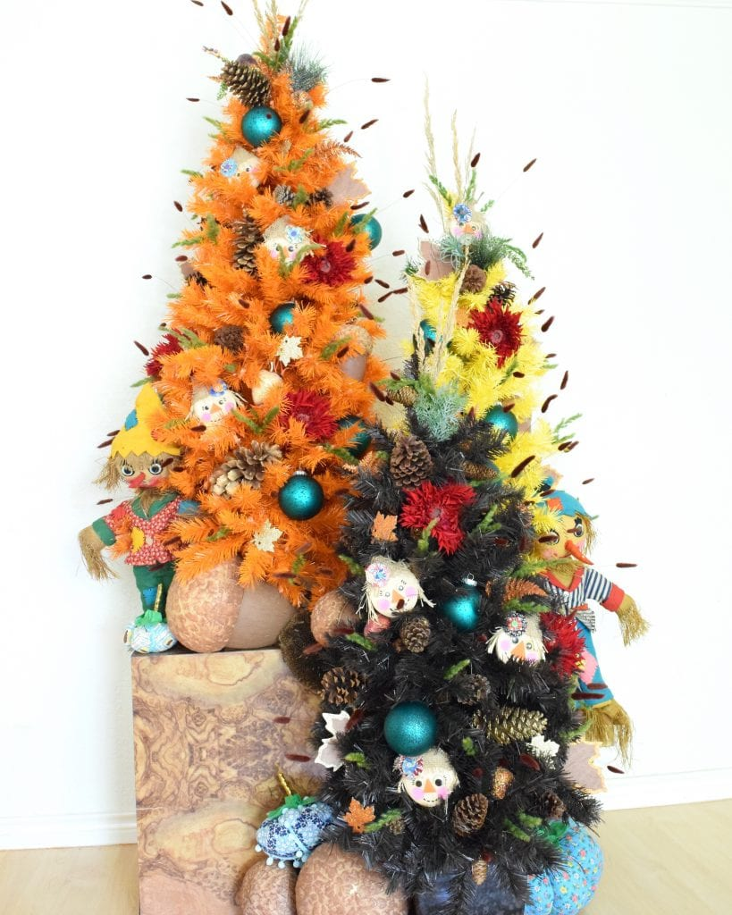 Fall themed Christmas trees by Jennifer Perkins