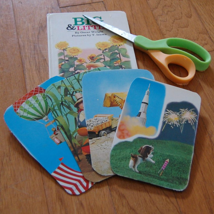 How to make lacing cards from a board book.