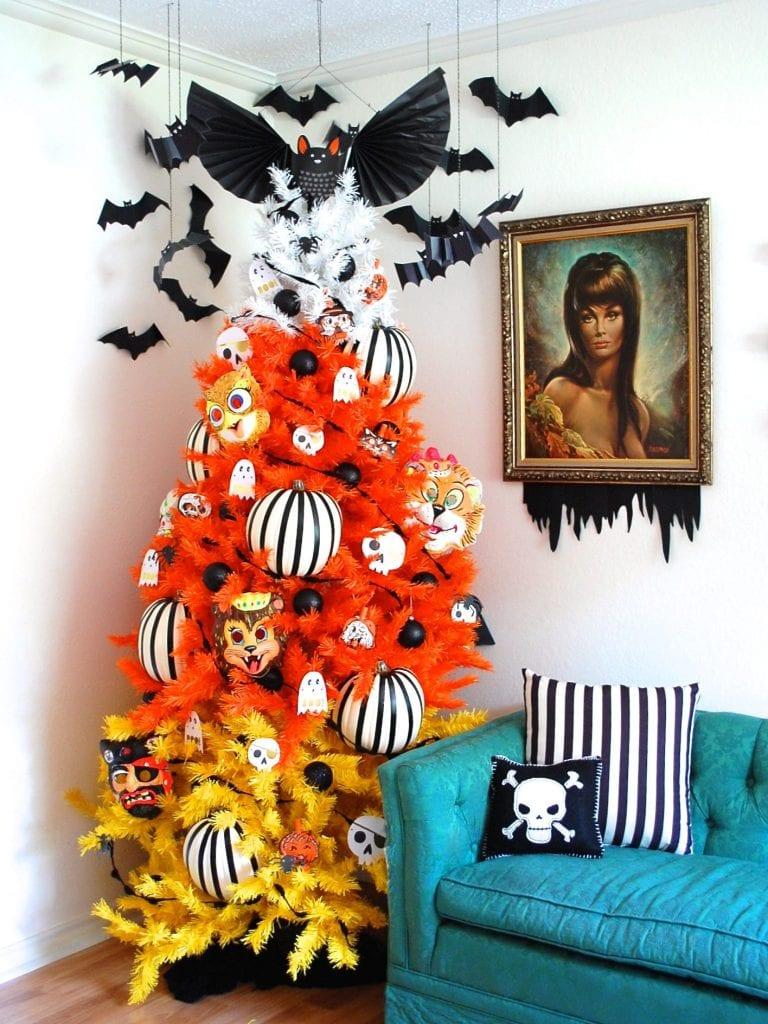 Candy Corn Halloween Tree by Jennifer Perkins