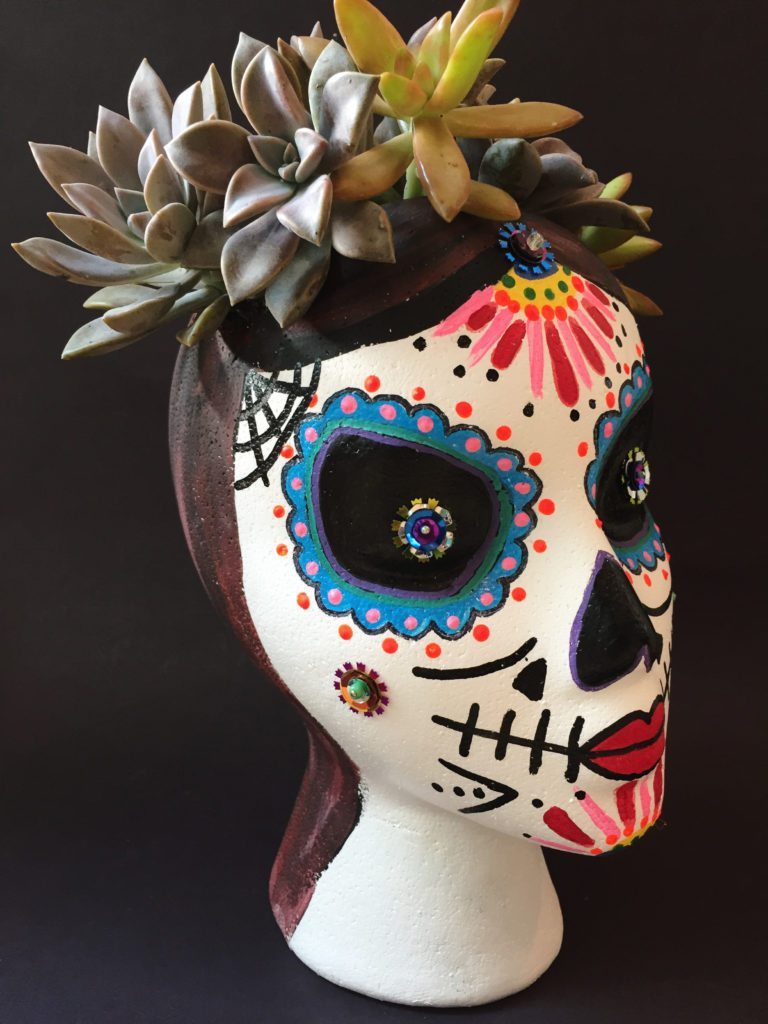 Sugar Skull Succulent Planter - Jennifer Perkins ...