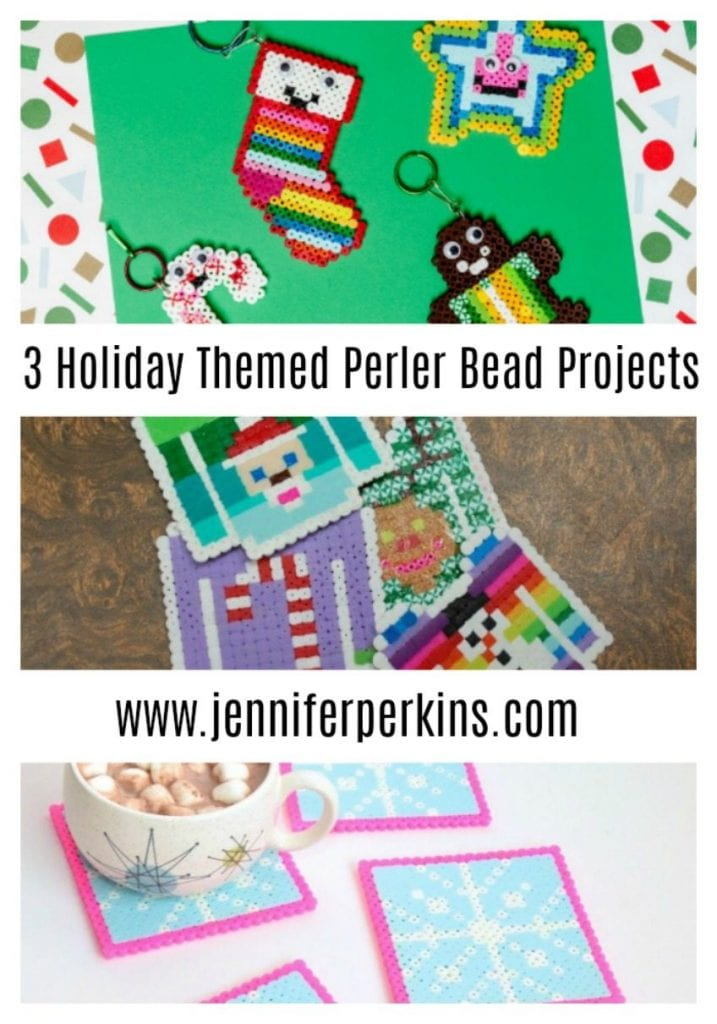 Three Adorable DIY Perler Bead Projects for Christmas by Jennifer Perkins