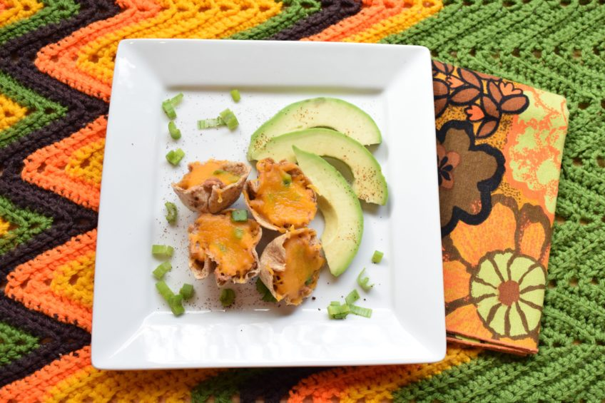 How to make black eyed pea taco cups.