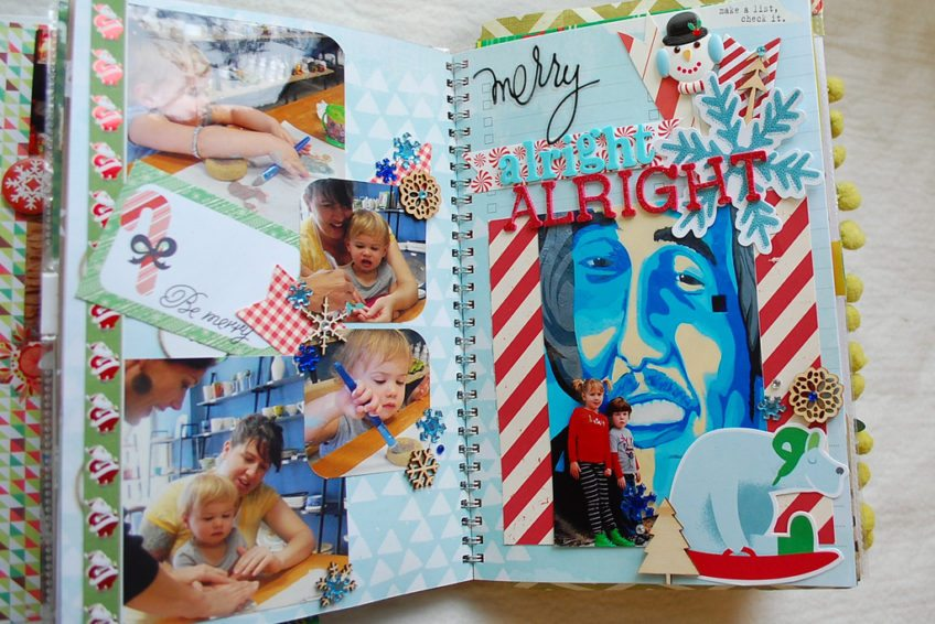 Funky December Daily Scrapbook Ideas.