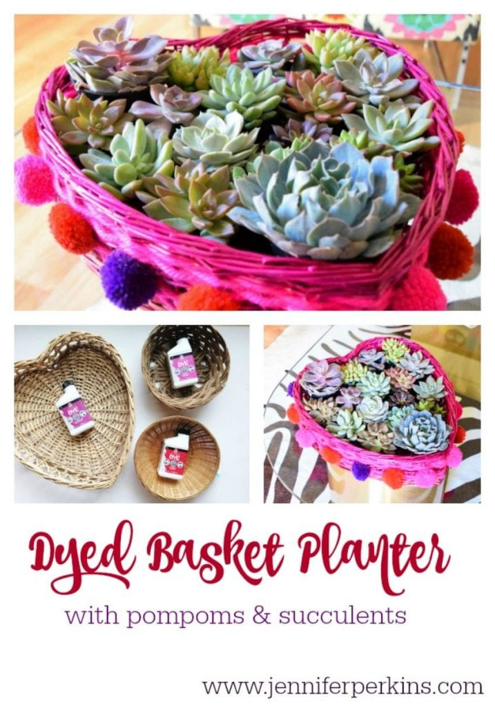 How to dye a basket and make it into a planter.