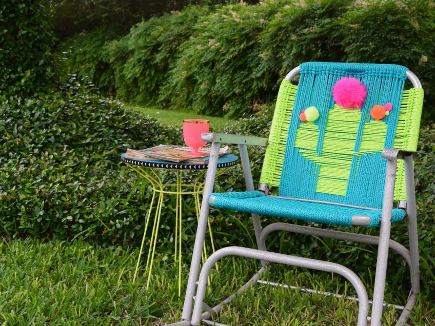 How to macrame a cactus lawn chair.