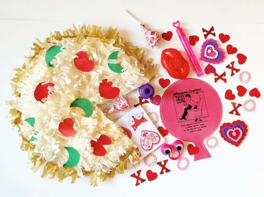How to turn paper plates into a pizza pinata.