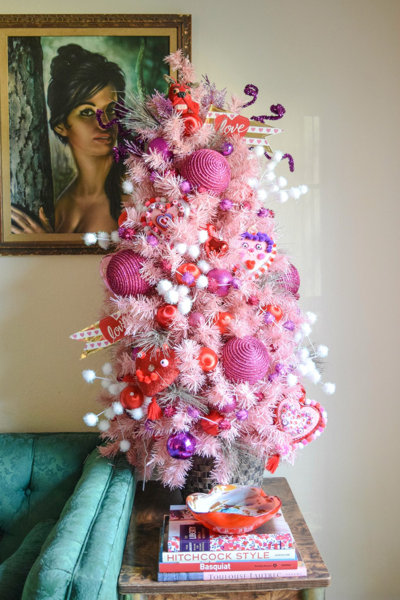 Gorgeous Pink Tabletop Tree Decorated For Valentineu0027s Day By Jennifer  Perkins