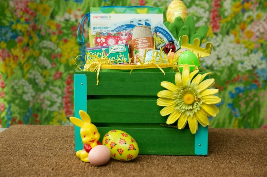 How to fill a garden themed Easter basket.