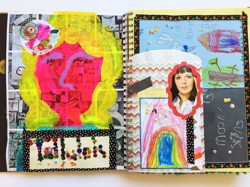 How to make a family art journal.