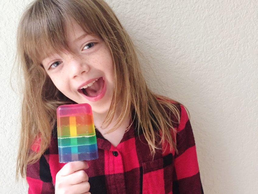 Kids love soapsicle soap pops.