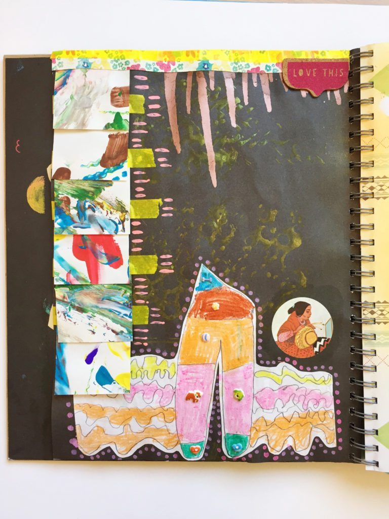 Making art journals with your kids.