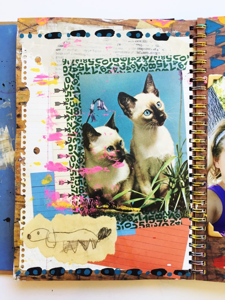 Art journaling with kids.
