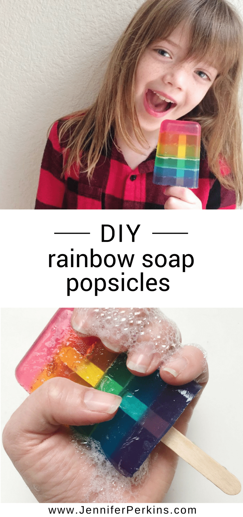 DIY Rainbow Soap Popsicles by Jennifer Perkins