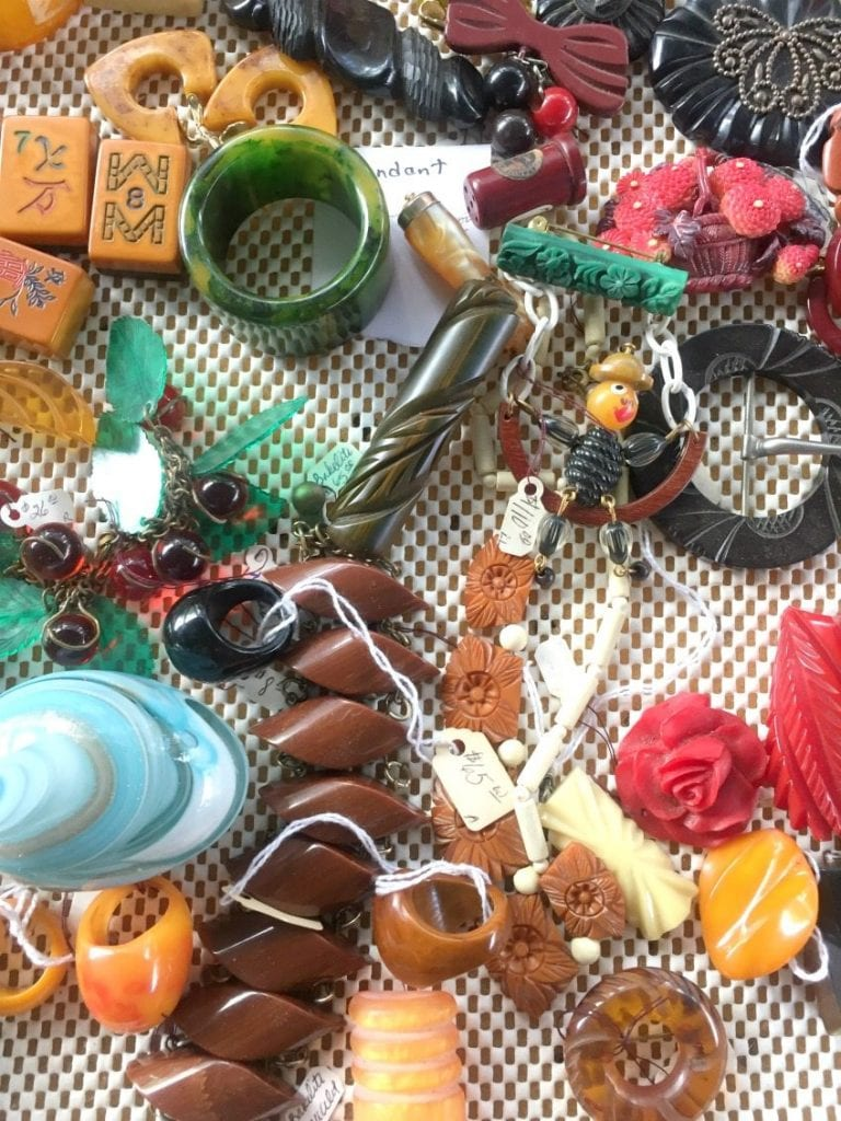 Vintage Bakelite jewelry from the Round Top.
