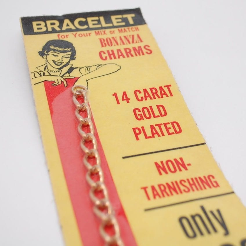 Vintage headstock charm bracelets.