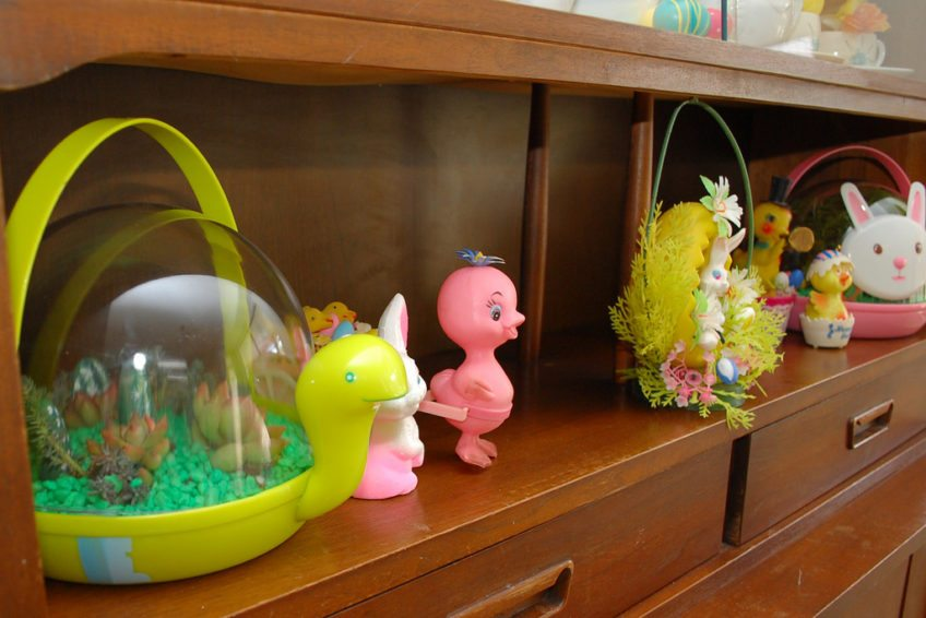 How to turn your Easter basket into a terrarium.