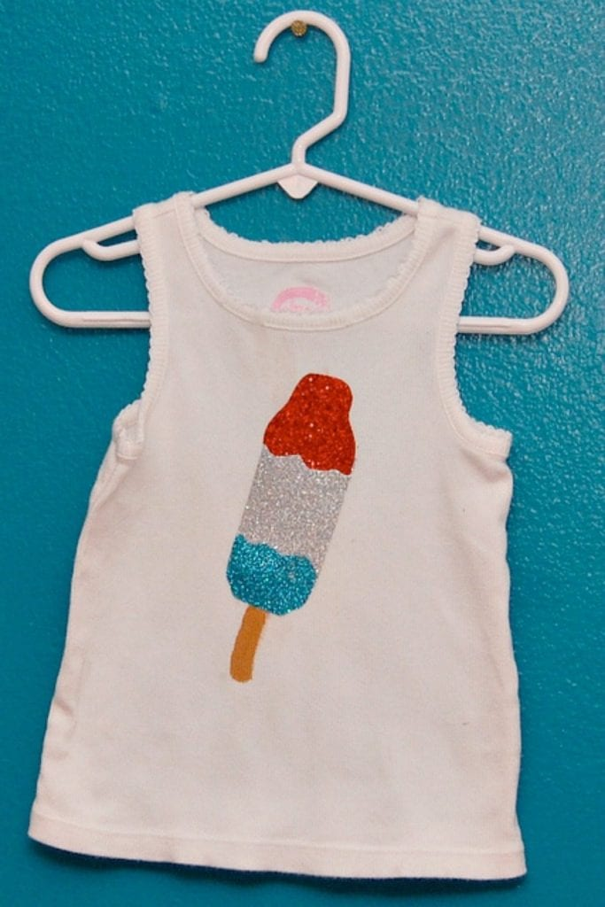 Popsicle Bomb Pop applique shirt.