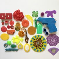 Rainbow Craft supplies for National Craft Month
