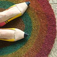 How to make a rainbow door mat by Jennifer Perkins