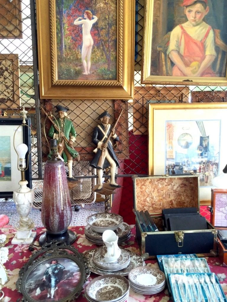 A variety of antiques from the Round Top flea market.