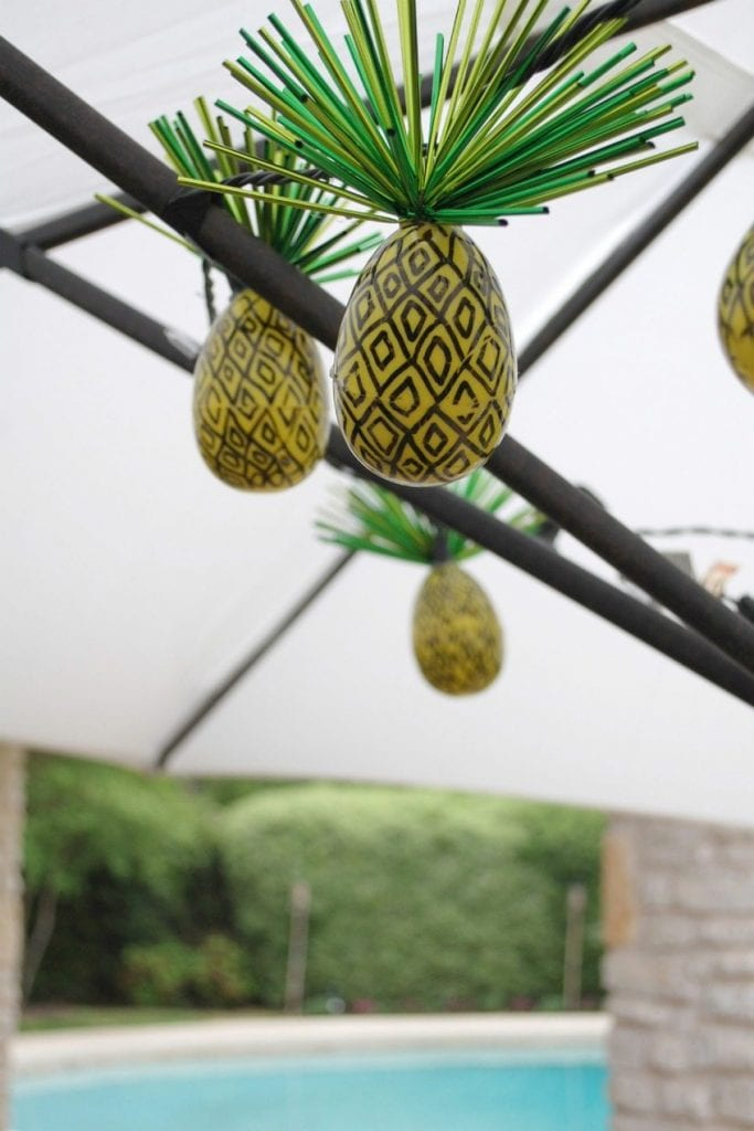 How to turn Easter eggs into pineapple string lights.