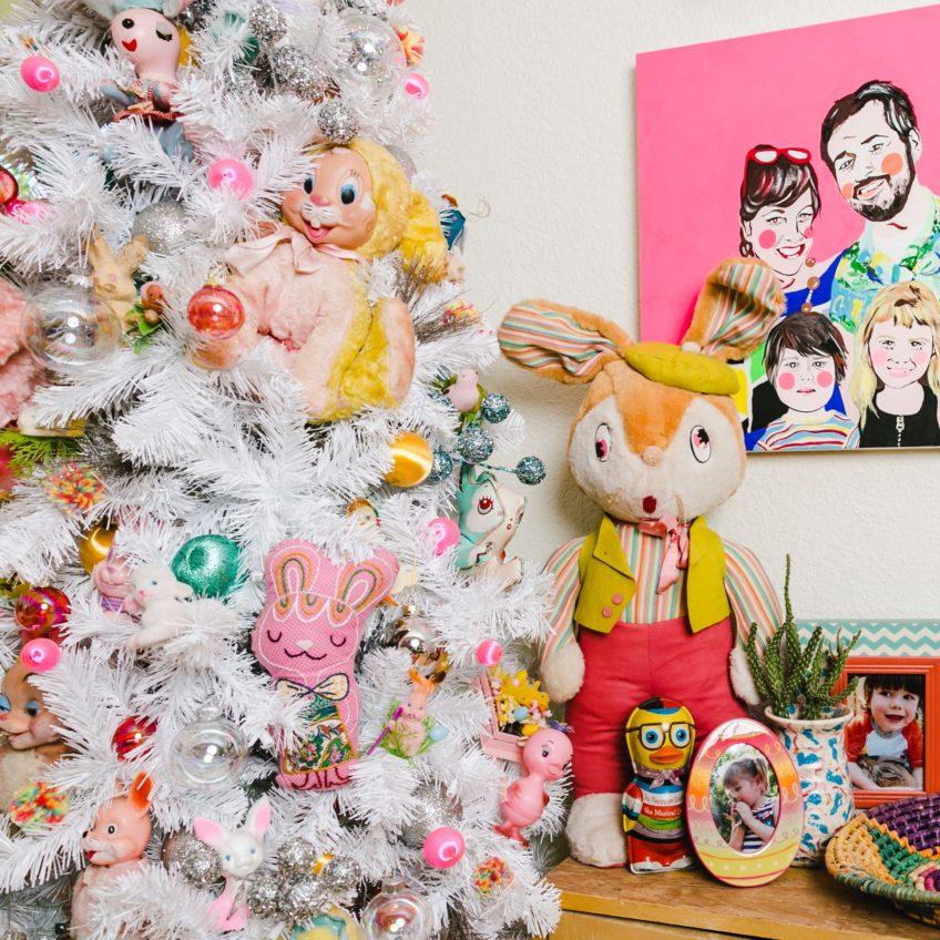 Jennifer Perkins collection of vintage Easter decorations.