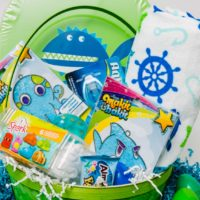 Ocean themed Easter baskets.