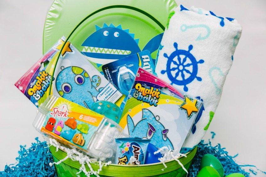 Ocean themed Easter baskets.