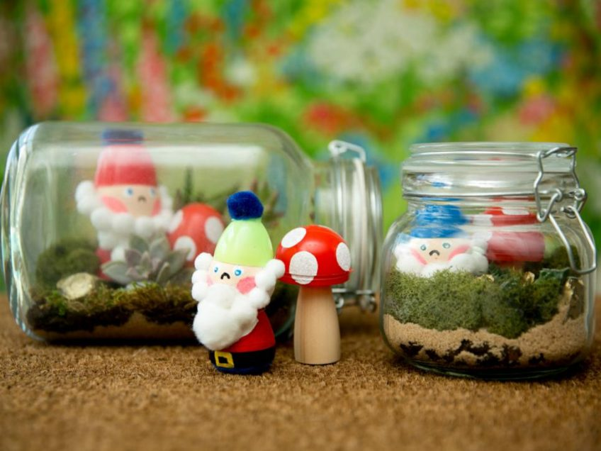 How to turn Easter eggs into a gnome terrarium.