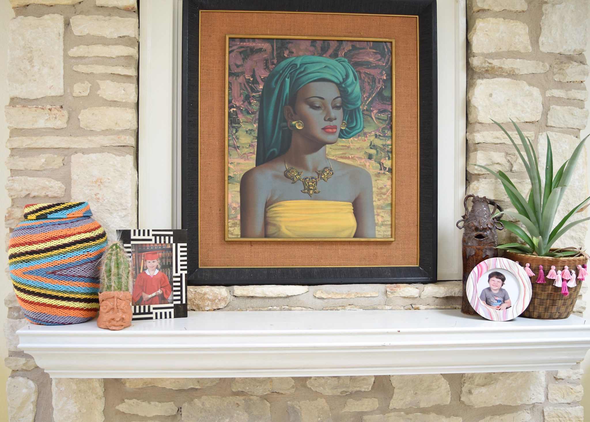 Jennifer Perkins Vladimir Tretchikoff above the mantle.