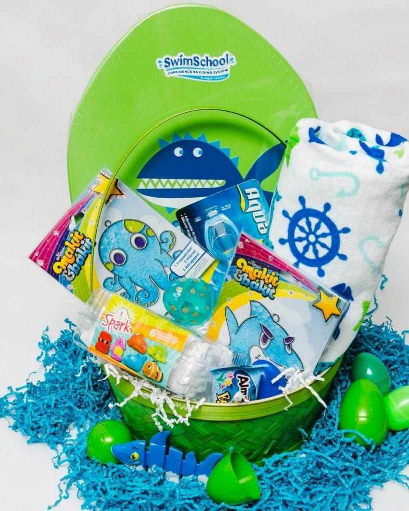 Ocean themed Easter baskets that are full of fun.