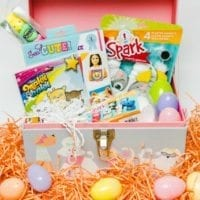 Kittens and puppies pet themed Easter basket ideas.