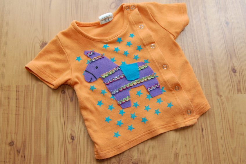 How to make a piñata appliqué shirt.