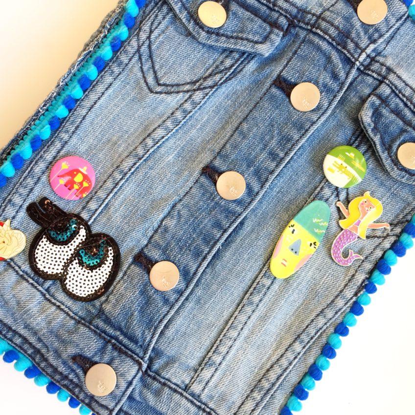 Easy DIY journal covered in a denim jacket.