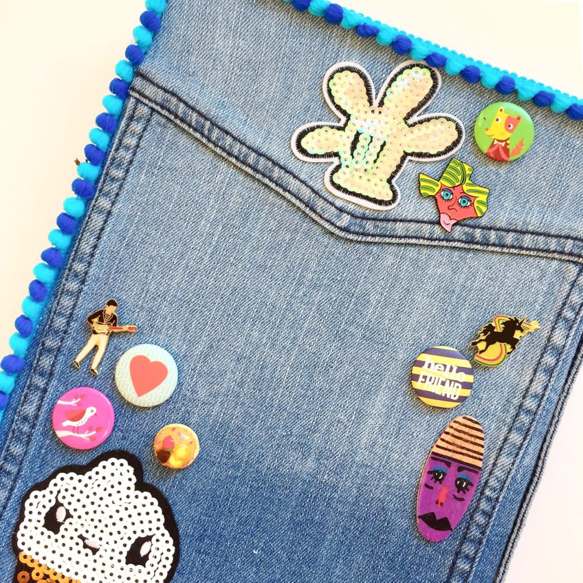 DIY denim covered journal by Jennifer Perkins