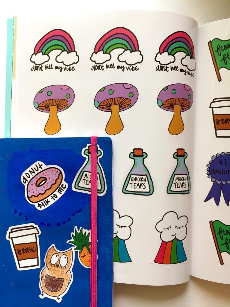 Stick It to Em sticker coloring book.
