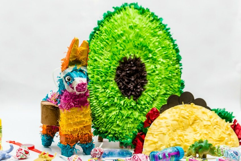 How to make paper plate pinatas.