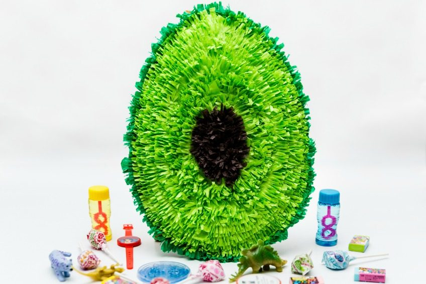 How to make a mini avocado piñata.